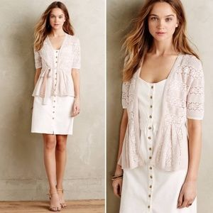 Anthro Knitted & Knotted Short Sleeve Cardigan